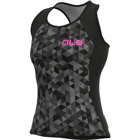 Alé Cycling Solid Triangles Tank Top Women, grey/black
